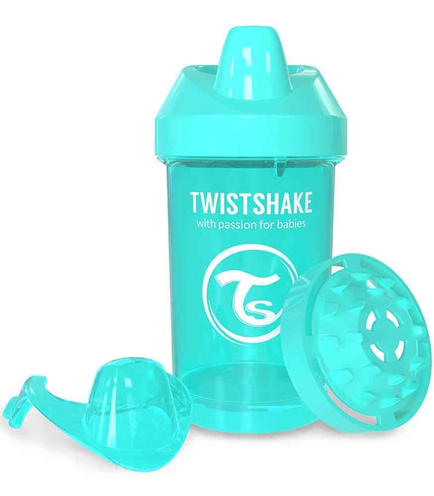 TwistShake Crawler Cup Damlatmaz Suluk Turkuaz (300 ml)