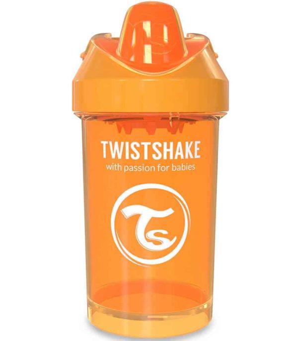 TwistShake Crawler Cup Damlatmaz Suluk Turuncu (300 ml)