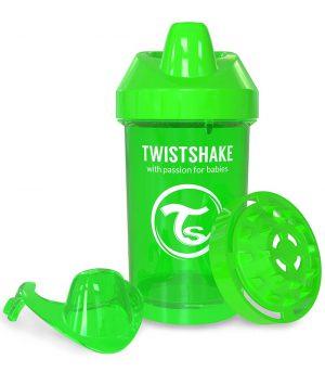 TwistShake Crawler Cup Damlatmaz Suluk Yeşil (300 ml)