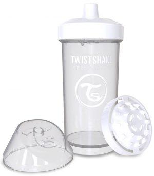 TwistShake Kid Cup Damlatmaz Suluk Beyaz (360 ml)