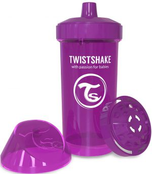 TwistShake Kid Cup Damlatmaz Suluk Mor (360 ml)