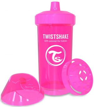 TwistShake Kid Cup Damlatmaz Suluk Pembe (360 ml)