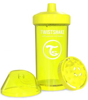TwistShake Kid Cup Damlatmaz Suluk Sarı (360 ml)