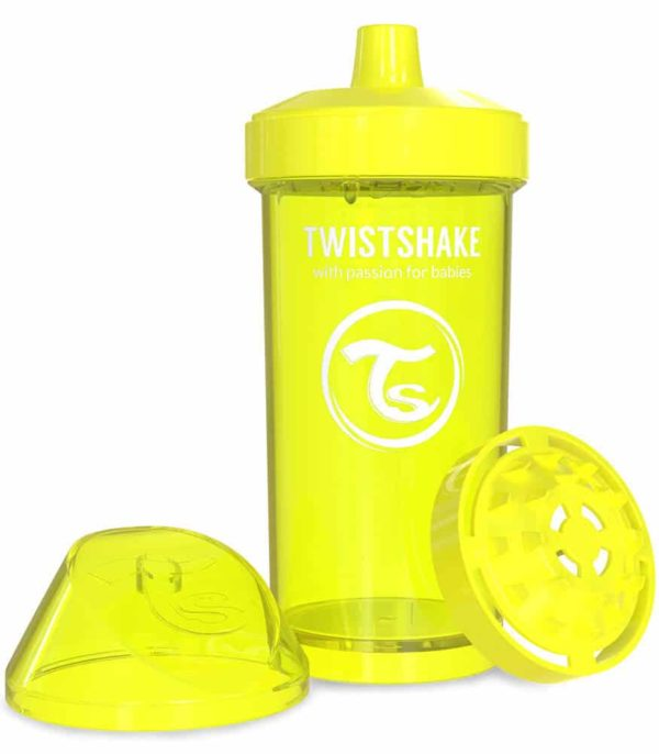 TwistShake Kid Cup Damlatmaz Suluk Sarı (360 ml)