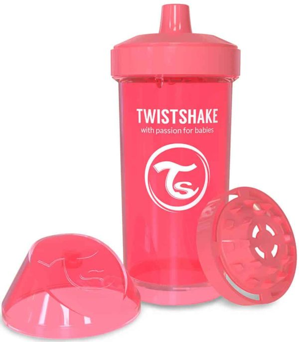 TwistShake Kid Cup Damlatmaz Suluk Şeftali (360 ml)