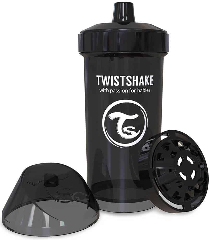 TwistShake Kid Cup Damlatmaz Suluk Siyah (360 ml)