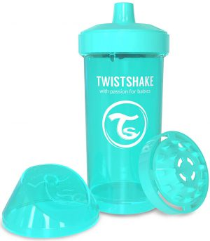 TwistShake Kid Cup Damlatmaz Suluk Turkuaz (360 ml)