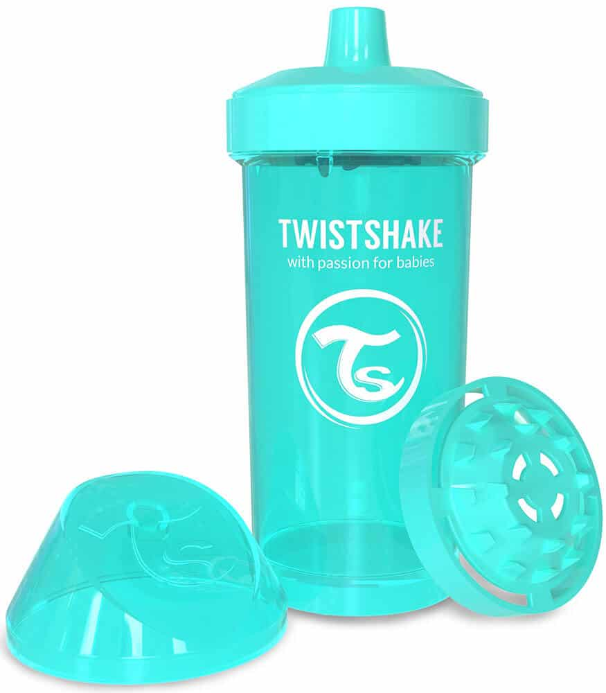 TwistShake Kid Cup Damlatmaz Suluk Turkuaz (360 ml)