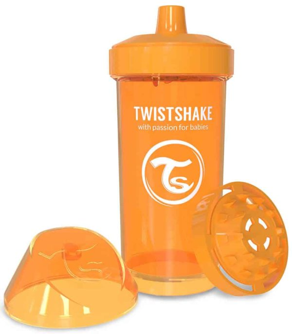 TwistShake Kid Cup Damlatmaz Suluk Turuncu (360 ml)