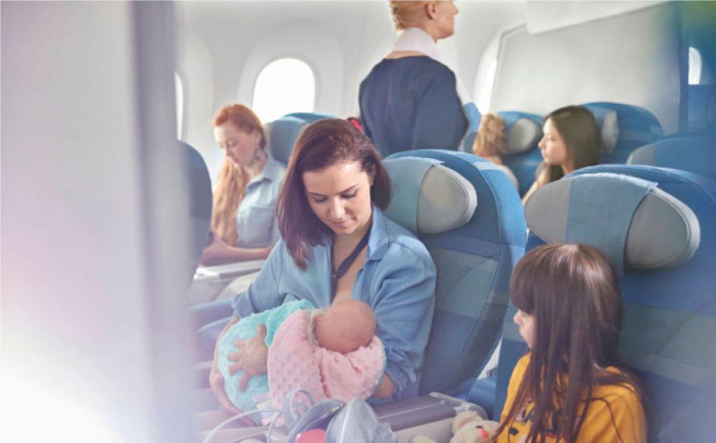 Uçakta Bebek Nasıl Emzirili
