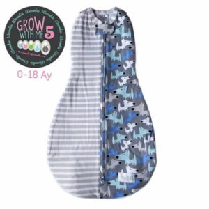 Woombie Grow With Me Büyüyebilen Kundak - Doggie Stripes 0-18 Ay