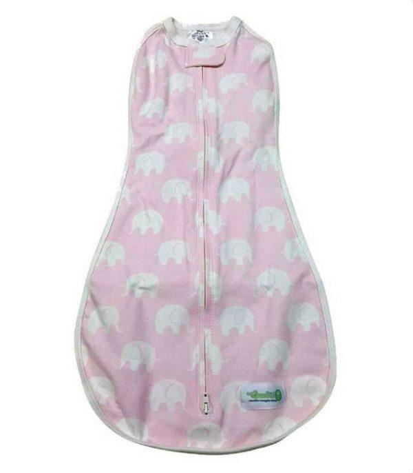 Woombie Original Kundak Baby Pink Elephant