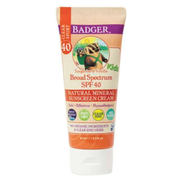 Badger Çocuk Güneş KremiClear Zinc