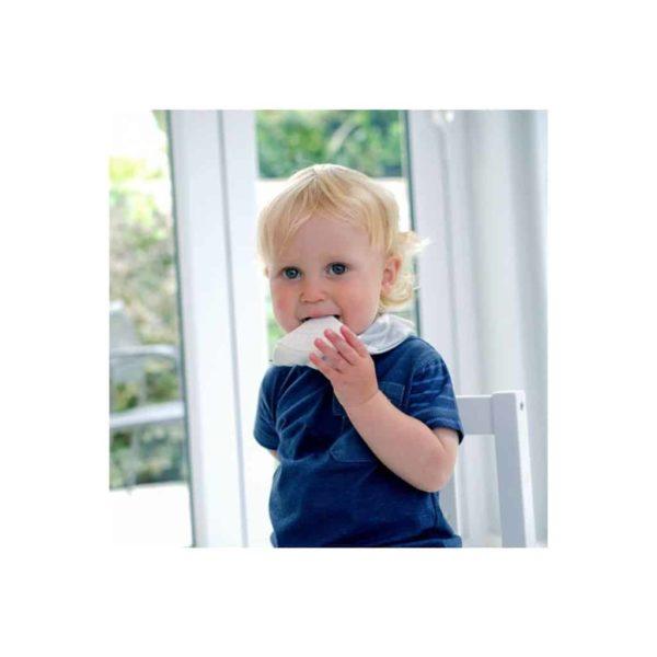 Cheeky Chompers Diş Kaşıyıcılı Fular Önlük (Grey Stripes)