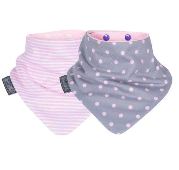 Cheeky Chompers Fular Önlük İkili Dots & Stripes