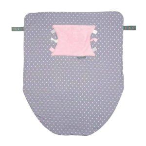 Cheeky Chompers Puset ve Bebek Battaniyesi (Polka Dot Pink)