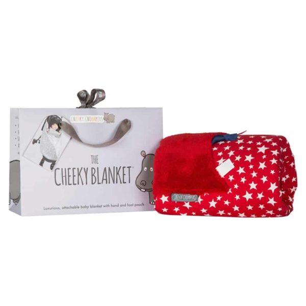 Cheeky Chompers Puset ve Bebek Battaniyesi (Red Stars)