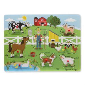 Melissa & Doug Ahşap Sesli Yapboz-Old MacDonal's Farm