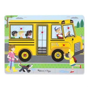 Melissa & Doug Ahşap Sesli Yapboz-The Wheels on the Bus