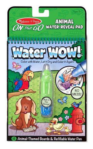 Melissa & Doug Water Wow! Su ile boyama kitabı (Hayvanlar)