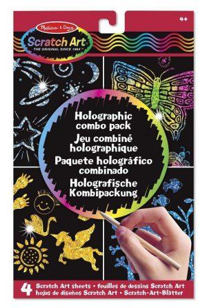 Melissa & Doug Kazıma Sanatı- Renkleri Ortaya Çıkar (Holografik Kombo Paket)