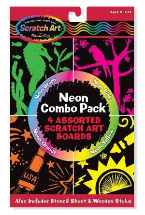 Melissa & Doug Kazıma Sanatı- Renkleri Ortaya Çıkar (Neon Kombo Paket)