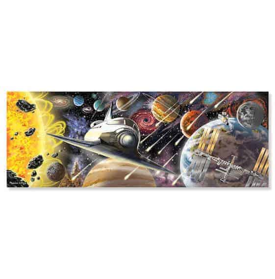Melissa & Doug Dev Yer Yapbozu (Uzay Keşfi  -200 parça)