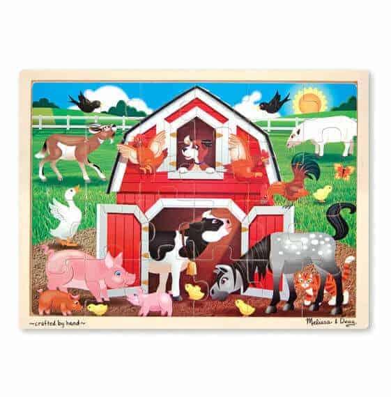 Melissa & Doug Ahşap 24 Parça Yapboz (Çiftlik)