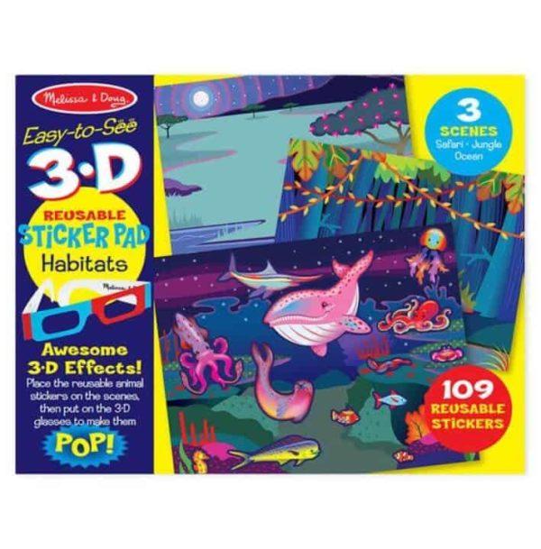 Melissa & Doug 3D Tak Çıkar Çıkartma Kitabı (Hayvanlar)