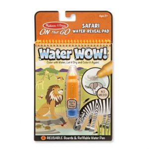Melissa & Doug Water Wow! Su ile boyama kitabı (Safari)