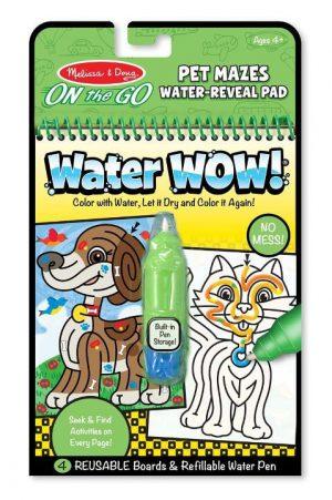 Melissa & Doug Water Wow! Su ile boyama kitabı (Evcil Hayvanlar Bulmaca)