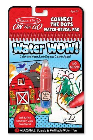 Melissa & Doug Water Wow! Su ile boyama kitabı (Çiftlik - Noktaları birleştir)