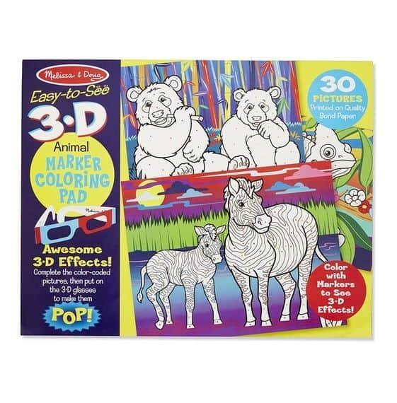 Melissa & Doug 3D Marker Boyama Kitabı (Hayvanlar)