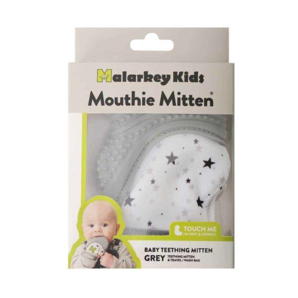 mouthie mitten diş kaşıyıcı eldiven yıldız grisi 3