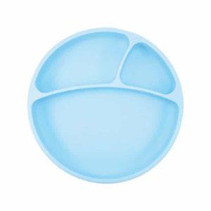 OiOi Vakumlu Mama Tabağı Silikon Mavi
