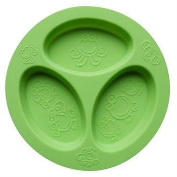 Oogaa Silikon Bölmeli Tabak (Yeşil)