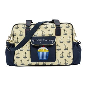 Pink Lining Yummy Mummy (Navy and Cream Boat)