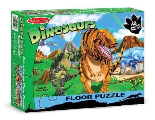 Melissa & Doug Dev Yer Yapbozu (Dinozor Dünyası - 48 parça)