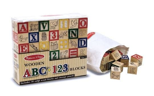 Melissa & Doug Ahşap Bloklar (ABC - 123)