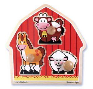 Melissa & Doug Ahşap İlk Yapbozum (Çiftlik hayvanları)