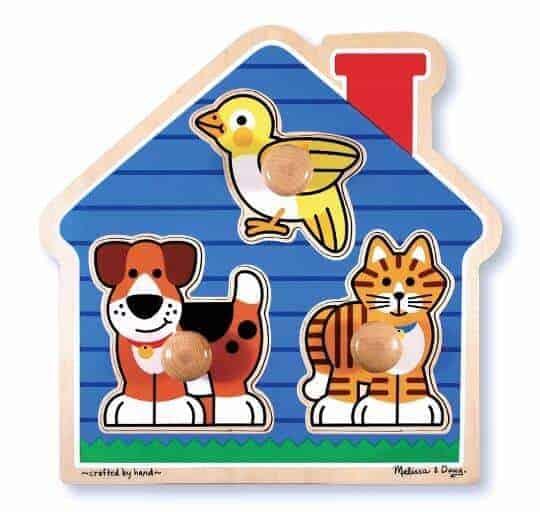 Melissa & Doug Ahşap İlk Yapbozum (Evcil hayvanlar)