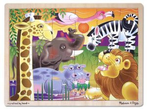 Melissa & Doug Ahşap 24 Parça Yapboz (Safari)