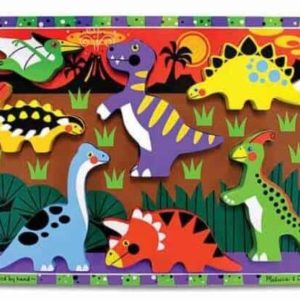 Melissa & Doug Ahşap Tombul Yapboz (Dinozorlar)