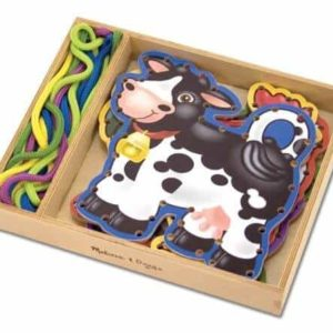 Melissa & Doug Ahşap İp Geçirme (Çiftlik Hayvanları)