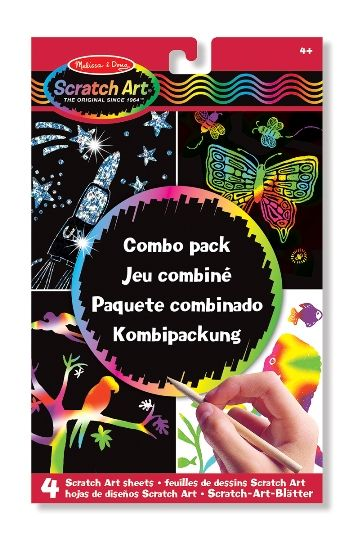 Melissa & Doug Kazıma Sanatı- Renkleri Ortaya Çıkar (Combo Paket)