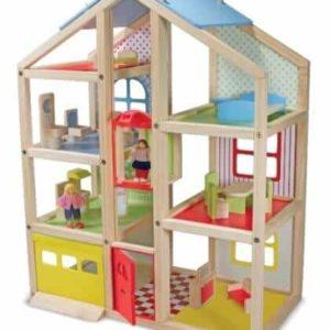 Melissa & Doug Ahşap Mobilyalı Ev