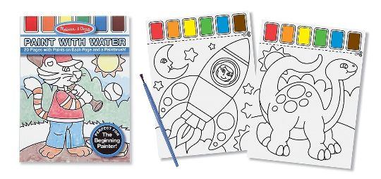 Melissa & Doug Sulu Boyalı Boyama Kitabı (Mavi)