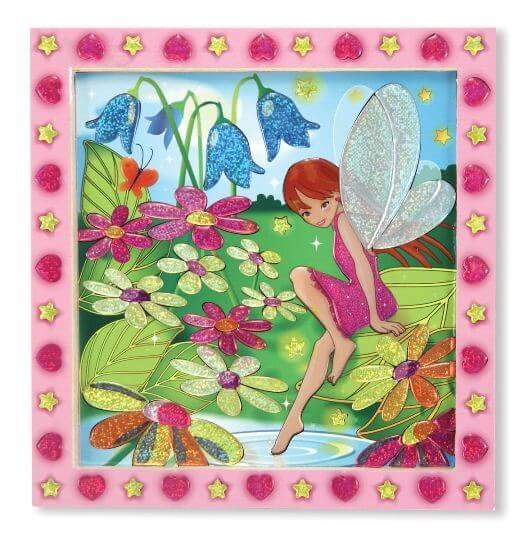 Melissa & Doug Tablo - Yapıştır Yarat (Çiçek Bahçesi ve Peri)