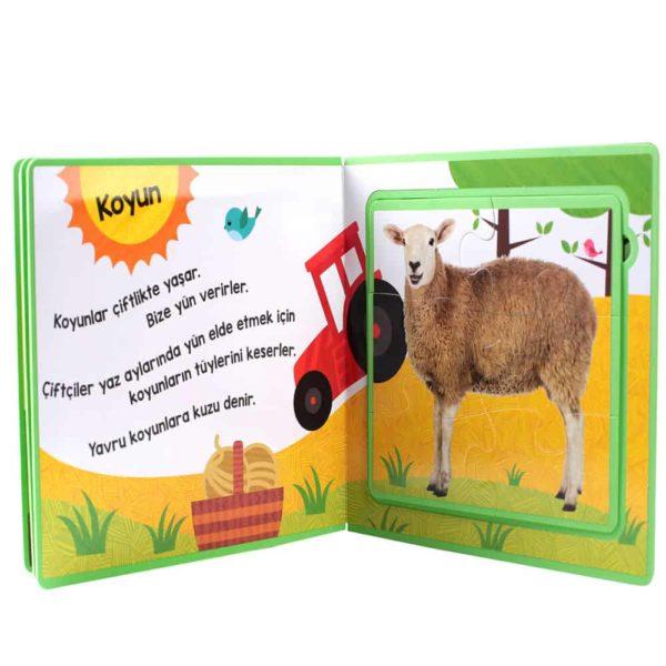 Puzzle Kitaplar Çiftlik Hayvanları2