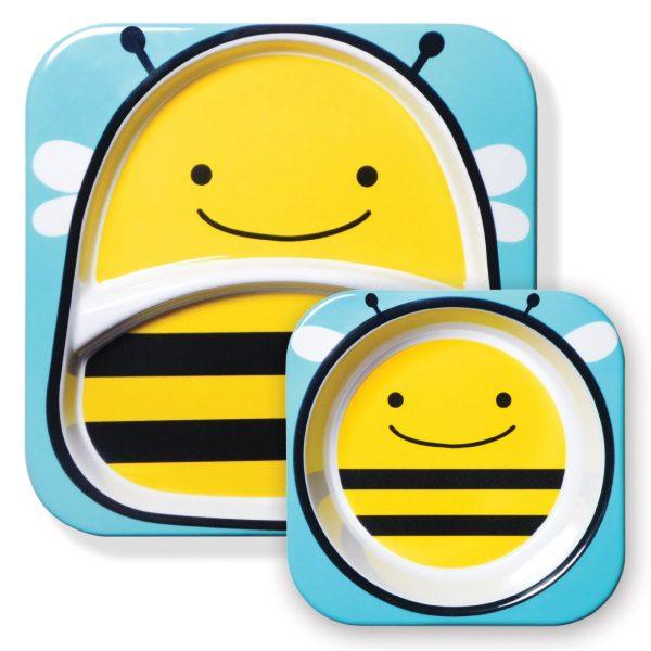 Skip Hop tabak ve kase seti arı